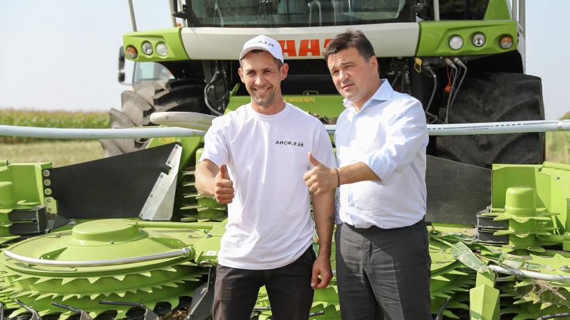 Губернатор в рамках рабочего визита в Серебряные Пруды проверил ход уборки урожая