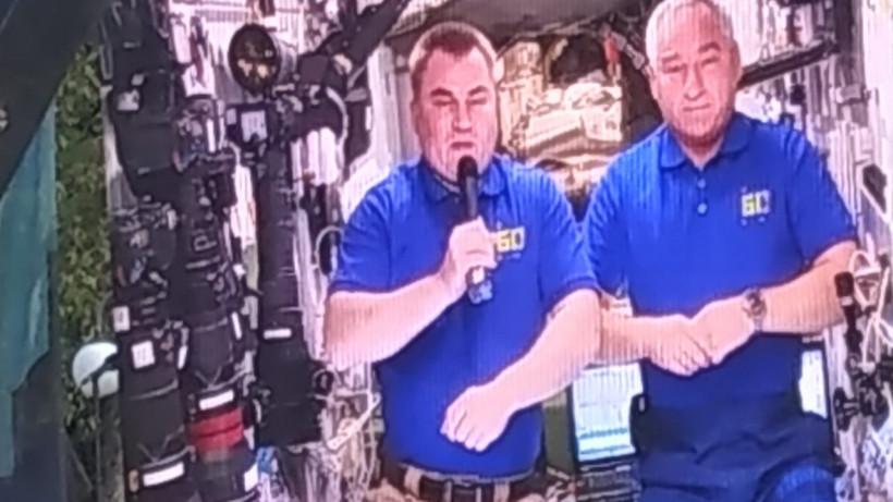 Экипаж МКС поздравил Люберцы с Днем города по прямой видеосвязи