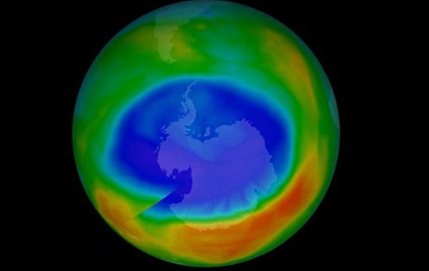 Озоновая дыра над Антарктикой рекордно уменьшилась