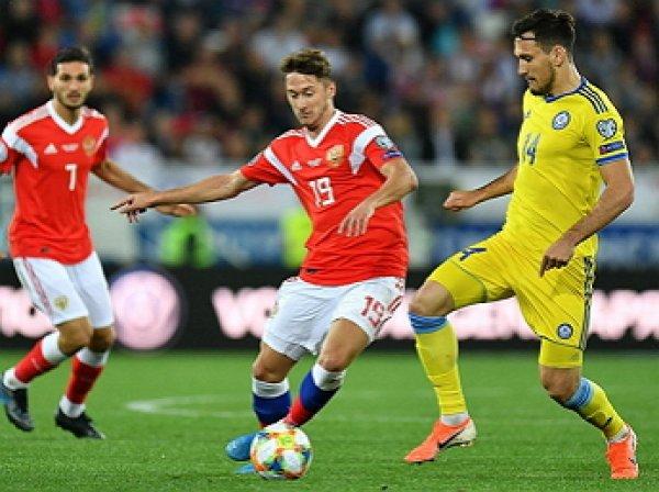 Россия обыграла Казахстан в матче ЧЕ-2020