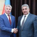 Состоялась рабочая встреча Павла Колобкова и Министра молодёжи и спорта Азербайджанской Республики Азада Рагимова
