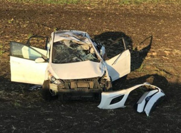 В Сети появилось видео страшной аварии с 4 погибшими в Воронежской области