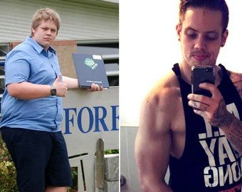 157-килограммовый мужчина стал мускулистым красавцем
