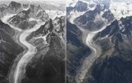 Фото с разницей в сто лет показали таяние ледников