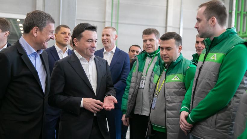 Губернатор проверил готовность к открытию логистического центра «Леруа Мерлен» в Дмитрове
