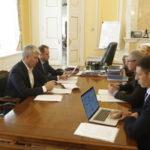 Павел Колобков провёл рабочую встречу с президентом Федерации гребного слалома России Сергеем Папушем