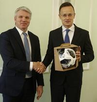 Павел Колобков провёл встречу с Министром внешнеэкономических связей и иностранных дел Венгрии Петером Сийарто