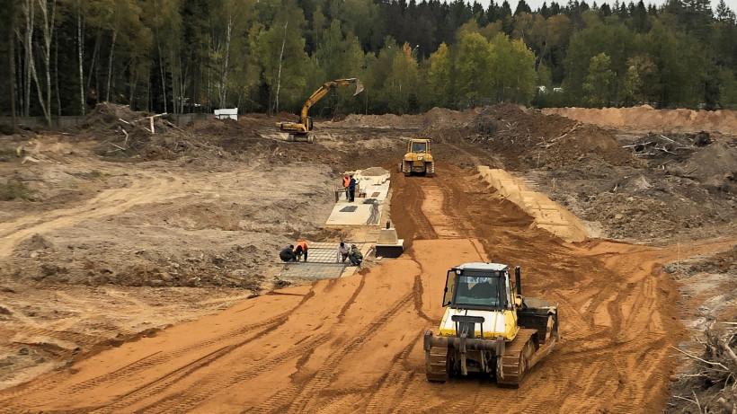 Строительство подпорной стены развязки началось в Солнечногорске