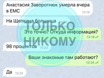 """""""Ужасные новости"""": директор Заворотнюк отреагировала на сообщения о смерти актрисы"""