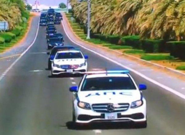 В ОАЭ кортеж Путина встретили машины с надписью «ДПС»