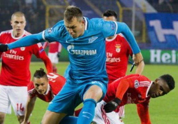 «Зенит» переиграл «Бенфику» в матче ЛЧ