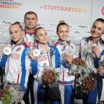Женская сборная России по спортивной гимнастике выиграла «серебро» в командном многоборье на Чемпионате мира в Германии