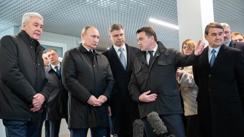 Андрей Воробьев принял участие в церемонии открытия движения по первым маршрутам МЦД