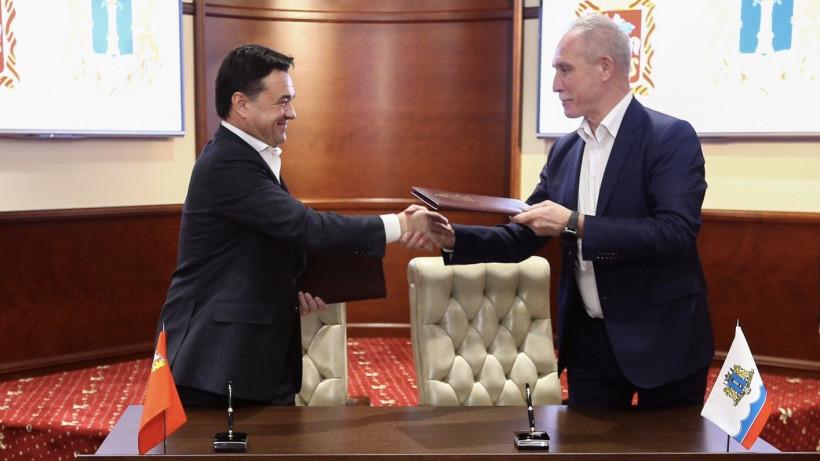 Губернаторы Московской и Ульяновской областей подписали соглашение о сотрудничестве