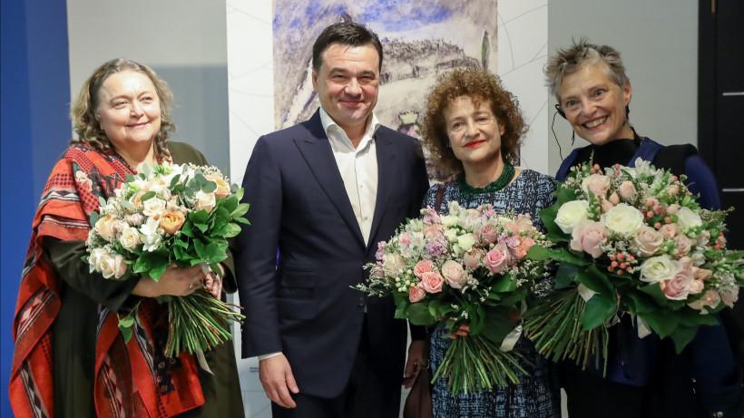 Губернатор встретился с внучками Шагала перед открытием выставки художника в Новом Иерусалиме