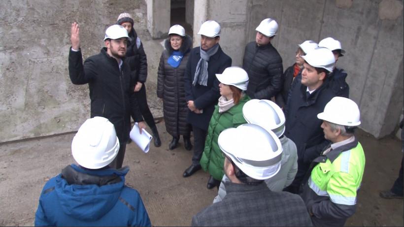 Ход строительства музыкального колледжа в Пушкине проконтролировали специалисты Минстроя