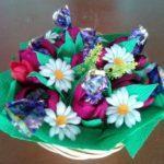 Мастер-класс по изготовлению букета в технике свит-дизайн «Цветы в корзинке»