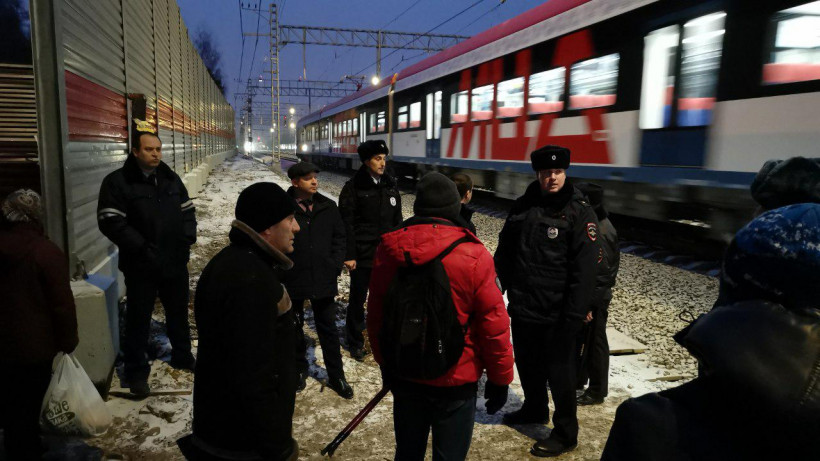 Пять нарушителей выявили при переходе железнодорожных путей в неустановленном месте в Одинцове