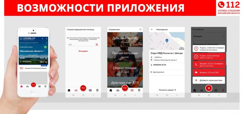 Почти 120 тыс. жителей Подмосковья установили мобильное приложение системы-112