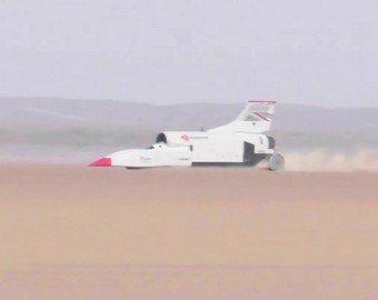 Реактивный автомобиль преодолел скоростной рубеж в 1000 км/ч
