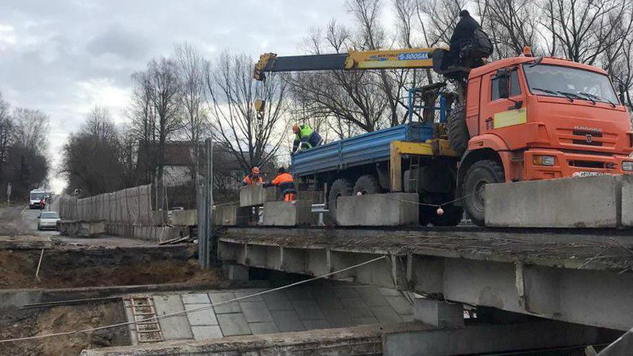 Схему движения на мосту через реку Липня изменили в Клину