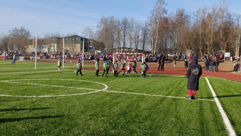 Стадион после реконструкции открыли в Краснозаводске