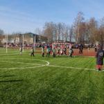 В Краснозаводске открыли обновлённый стадион с новым футбольным полем и дорожками
