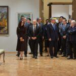 Владимир Путин и Касым-Жомарт Токаев посетили Центр «Эрмитаж-Сибирь» в Омске