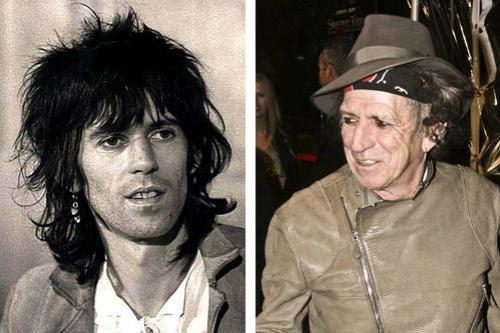 Кит Ричардс Кит Ричардс — легендарный британский гитарист и автор песен группы The Rolling Stones. В списке «100 величайших гитаристов всех времен» Ричардс находится на 4-м месте. Обойти его смогли лишь Джими Хендрикс, Эрик Клэптон и Джимми Пейдж. Сейчас Киту 75 лет, но он до сих пор продолжает выступать на сцене в составе The Rolling Stones и даже ведет свою страничку в Инстаграм.