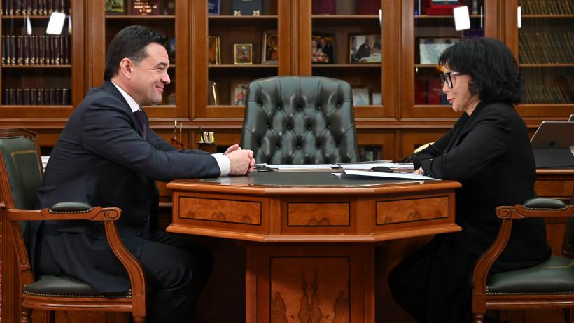 Губернатор провел рабочую встречу с главой СПЧ региона Мариной Юденич
