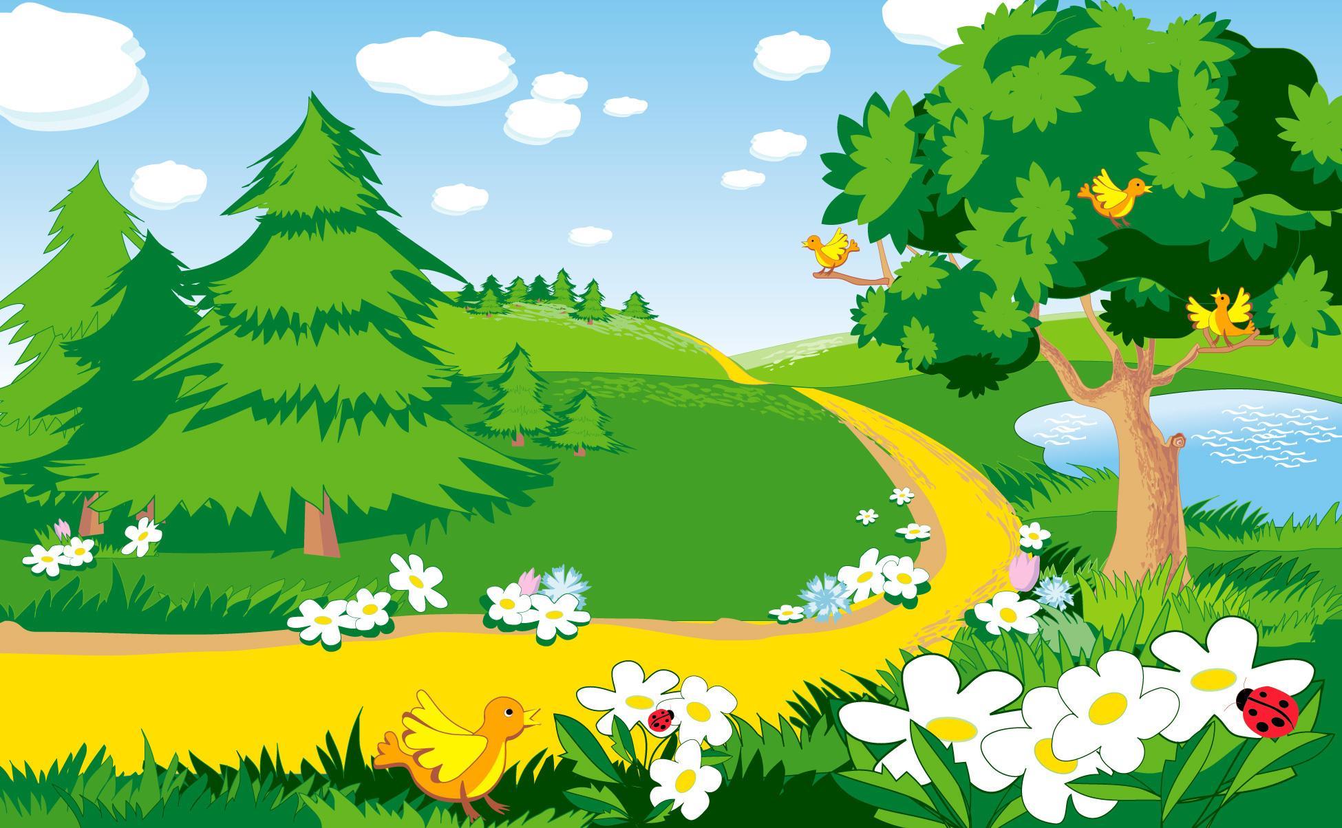 Лес из сказки колобок картинки