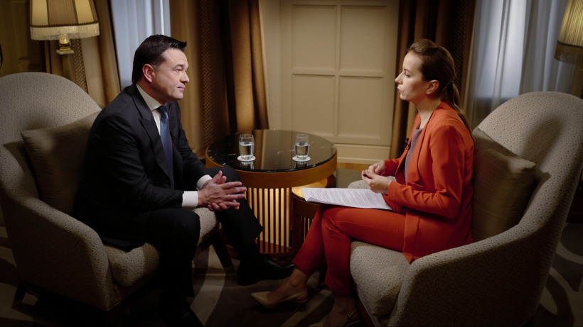 Интервью с Андреем Воробьевым показали в эфире телеканала «Россия 24»