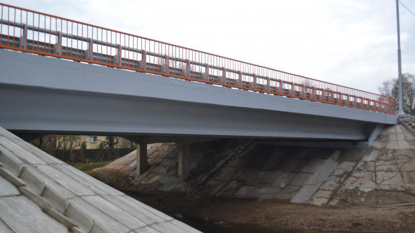 Мост через реку Волошню отремонтировали в Волоколамском городком округе