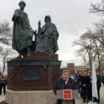 Памятник князю Глебу Святославичу и игумену Никону открыт в Керчи