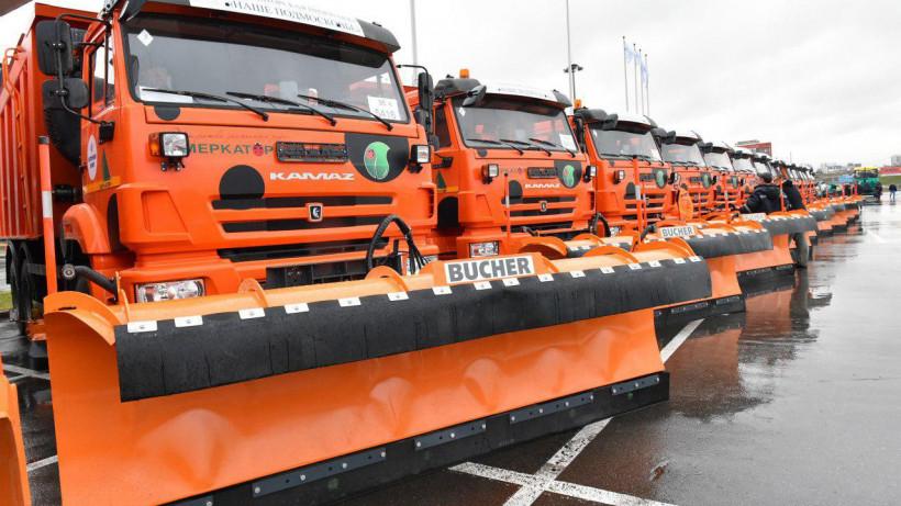 Порядка 135 единиц техники задействовали в уборке дорог Подмосковья в минувшие сутки