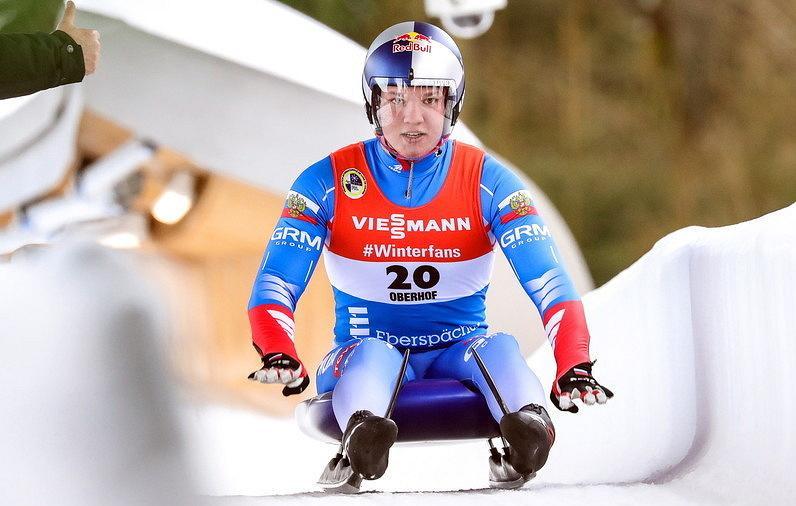 Роман Репилов выиграл спринт на этапе Кубка мира по санному спорту