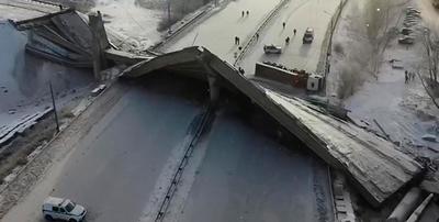 Россиянин чудом остался жив при обрушении моста