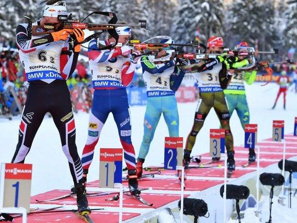 Российские биатлонисты выступят в гонке преследования на этапе КМ в Хохфильцене
