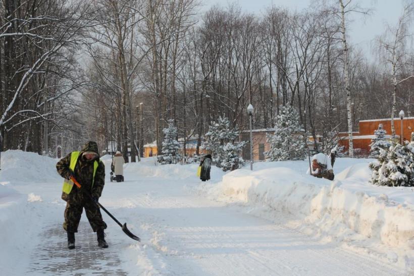 Более 10 тысяч человек задействовали в уборке снега в Подмосковье