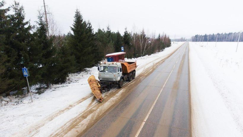 Более 23 тыс. км дорог обработали реагентами за сутки в Подмосковье