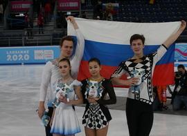 Российские фигуристы завоевали медали на III зимних юношеских Олимпийских играх в Лозанне