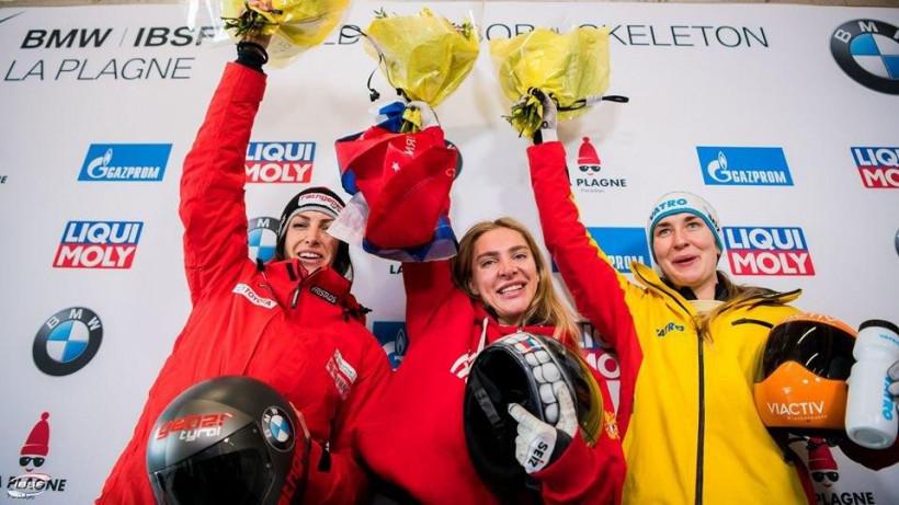 Спортсменка из Подмосковья заняла 1 место на IV этапе Кубка мира по скелетону