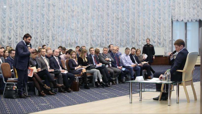 Встречу с зампредом правительства Подмосковья Вадимом Хромовым посетили 230 предпринимателей