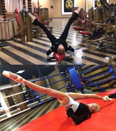 Анастасия Волочкова показала еще одно эффективное упражнение на растяжку