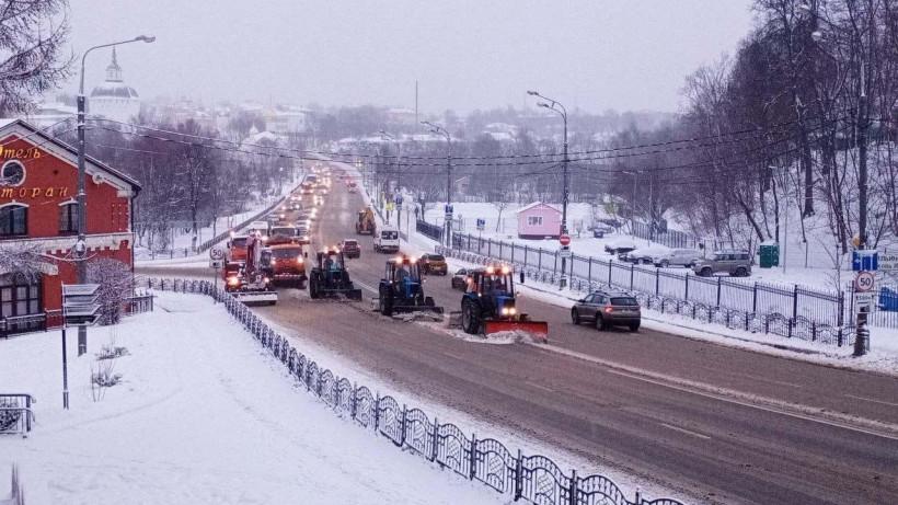 Более 25 тыс. км дорог обработали противогололедными средствами за сутки в Подмосковье
