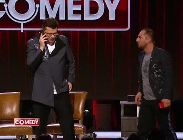 """""""Куда мне ехать, тварь?!"""": Карибидис и Харламов довели до истерики Яну Кошкину в Comedy Club"""