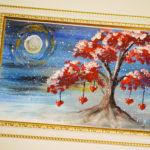 Мастер-класс по правополушарному рисованию «Дерево с валентинками»