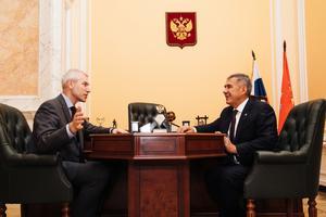 Министр спорта и президент Республики Татарстан обсудили совместные проекты на 2020 год