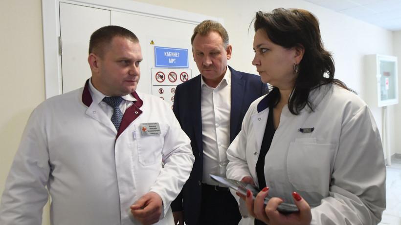 Министр здравоохранения региона Светлана Стригункова проверила работу МРТ в Зарайске