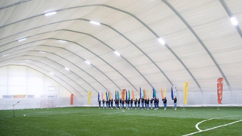 Новый футбольный манеж открыли в Егорьевске в четверг